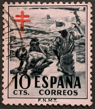 Stamp Spain 1951 10c Tuberculosis Tax Stamps Used