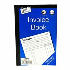 Full Size A5 Invoice Duplicate Receipt Book Numbered Cash 1 - 100 Pages Pad