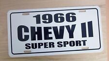1966 Chevy ll Super Sport two 2 license plate car tag 66 Chevrolet Nova  283 327