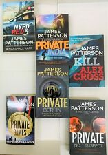 James Patterson Classic Collection 6 Book Set,NYPD RED 3,KILL ALEX CROSS,PRIVATE