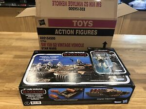 KENNER STAR WARS VINTAGE COLLECTION ROGUE ONE IMPERIAL ASSAULT TANK AND DRIVER