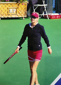 Anna Kournikova On Court Candid 8x10 Color Photograph 2009 Charity Tennis Event