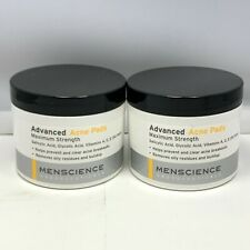MENSCIENCE ANDROCEUTICALS Advanced Acne Pads Maximum Strength 50 PADS *LOT OF 2*