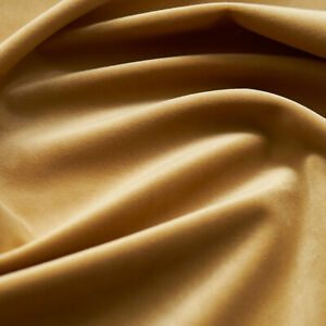 Solid Drapery/Upholstery Soft Velvet Fabric Color Gold by The Yard