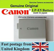 Genuine Canon battery LP-E5 EOS 450D 500D 1000D Rebel XS XSi Kiss F X3 X2 T1i