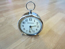Crosley Antique Inspired Chrome Metal Analog Table Clock - Silver