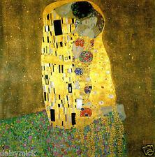 Gustav Klimt The Kiss, 8x8 Inch Print