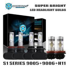 9005+9006+H11 LED Headlight Kit Hi/Lo Beam for Honda Accord 08-12 Civic 2006-15