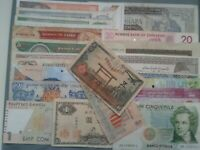 WORLD PAPER MONEY LOTS *****20 OLD BANK NOTES*****