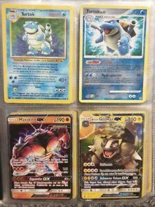 Pokemon Karten Sammlung-Turtok-GX-V-Base uvm.Sammelalbum+ü.100 alte gym jungle..
