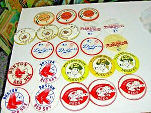 22-VINTAGE BASE BALL PINBACK PIN COLLECTION:RED SOX,REDS,PIRATES,DODGERS ECT