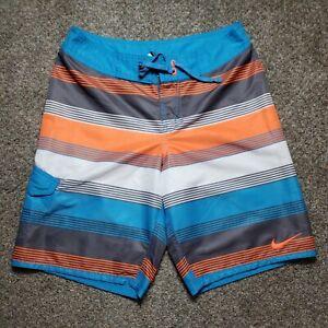 Nike Swim Shorts RN37763 Mens Multicolor Striped Size XL