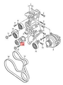 Genuine AUDI audi TTRS Coupe Roadster RS3 Sportback Lim. tensioner 07K903315AB