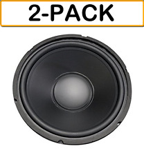 "(2-PACK) 55-2972 10"" 100W RMS  8ohm Woofer Poly Cone Surround Home Car Audio"