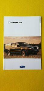 Ford Ranger 4x4 Regular Double Cab Super car catalogue brochure August 2001 MINT
