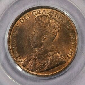 1915 Canada cent 1c PCGS MS64 RB Old Green Holder a lot of flashy RED for a RB