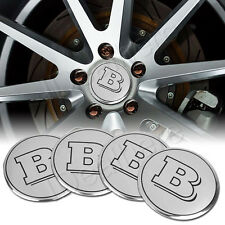 "4pcs Brabus ""B"" Wheel Center Hub Cap Badge Emblem Sticker Decal for Benz"