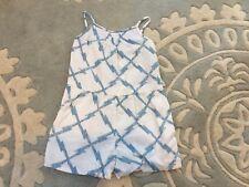 Baby Gap White Blue Mod Plaid Romper Outfit 4T EUC RR4NW
