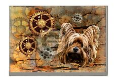 More details for steampunk yorkshire terrier art print a4 a3 matte or gloss xmas mothers day gift