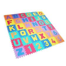 Stuoia Puzzle Kindertepich Spieltepich Tappeto-Gioco GOMMA Piuma 36tlg Eva 4693