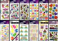 U CHOOSE Sticko BIRTHDAY Stickers PARTY CONFETTI BALLOONS CUPCAKES PRESENTS GIFT