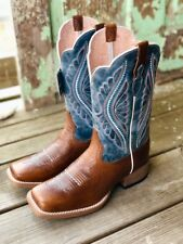 Ariat Women's Primetime Gingersnap & Baby Blues Square Toe Boots 10025032