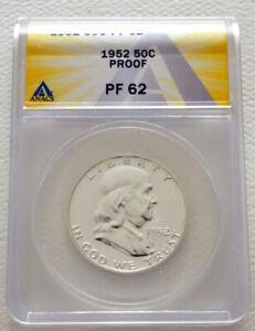 1952-P PF-62 US Mint Franklin Half Dollar 50 Cent Proof ANACS