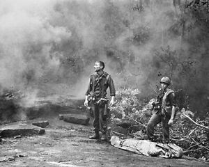 SOLDIERS AT LONG KHANH PROVINCE VIETNAM WAR 11x14 SILVER HALIDE PHOTO PRINT