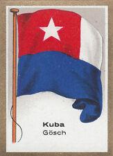 DRAPEAU CUBA KUBA  Jack Pavillon de beaupré FLAG CARD 30s