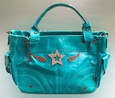 Lollipop turquoise teal handbag with wings and star