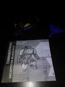 Hasbro Transformers Combiner Wars Decepticon Blackjack Loose with manuel
