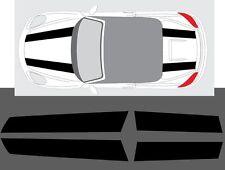 Porsche Boxster 2016- (718 718C) 911R Style Twin Stripe Decal Graphics Set Plain