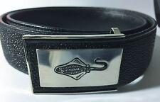 Stingray Leather Money Belt, Black Stingray Zippered / Key Pocket / Money Belt