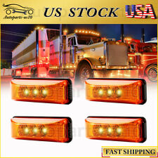 "4x Amber 3.9"" LED Clearence Light for Truck Trailer Lorry Camper Exterior Light"