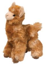 """LEXI LLAMA by Douglas Cuddle Toy 8.5"""" tall stuffed golden plush animal alpaca"""