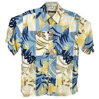Cubavera Hawaiian Shirt Multicolor Floral Viscose Soft Camp Aloha Mens Medium M