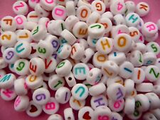 Alphabet Beads Letter Beads Kids Jewellery Making Bead 7mm Hole 1.2mm - 25g