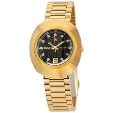 Rado Original  Black Dial Ladies Gold-tone Watch R12416613