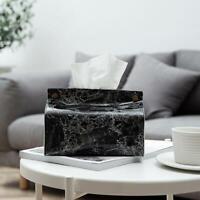 PU Leather Tissue Box Dispenser Cover Home Table Car Napkin Case Holder Storage