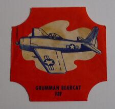 1950's Taystee bread label Aircraft Grumman Bearcat F8F