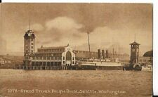 grand trunk pacific dock, seattle washington   postcard  1912