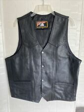 Name Of Quality Products Genuine Leather Size 46 Vest MOTORCYCLE,RIDING