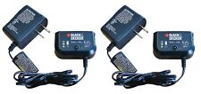 (2) Black & Decker 90592360-01 9.6v 12v 14.4v 18v NiCad Slide Battery Charger