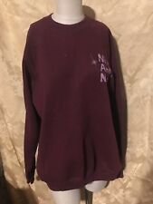 """""""Nice and Neat Inc"""" Airbrushed Burgundy Lee Sweatshirt Adult Size Xl Made in Usa"""