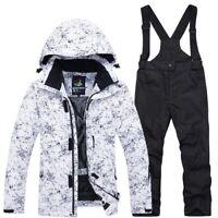 Thermal Kids Ski Suit Jacket Pants Set Windproof Waterproof Snowboarding Winter