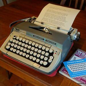 1968 Smith-Corona Galaxie Deluxe typewriter w/case+ribbon. Working beautifully.