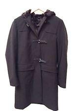 Prada Size 38 Ladies Black Coat With Fur Lining