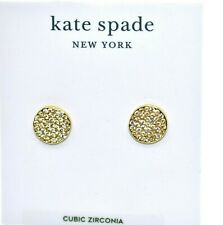 On Studs Gold Plate Cubic Zirconia Earrings A3 Nwt Auth Kate Spade Ny Shine