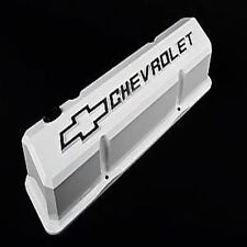 PROFORM 141-935 Die-Cast Slant Edge Valve Cover - White, For Small Block Chevy