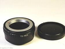 T T2 Screw to Sony NEX Alpha Adapter Includes Rear Cap USA Shipper